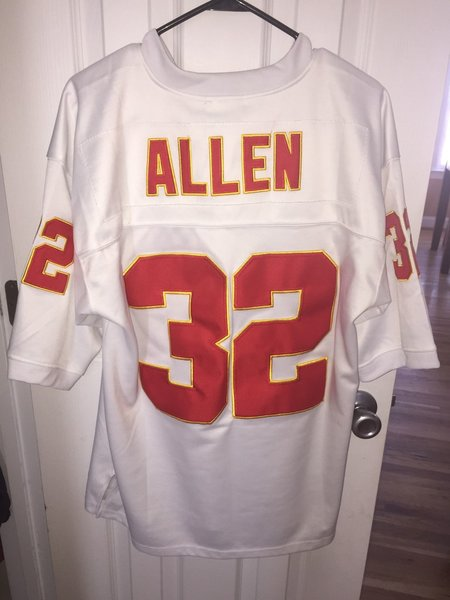 #32 MARCUS ALLEN Kansas City Chiefs NFL RB White Throwback Jersey