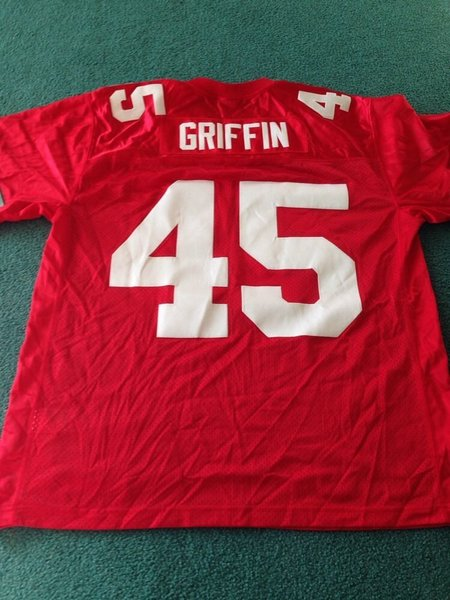 #45 ARCHIE GRIFFIN Ohio State Buckeyes NCAA RB Red Rose Bowl Throwback Jersey