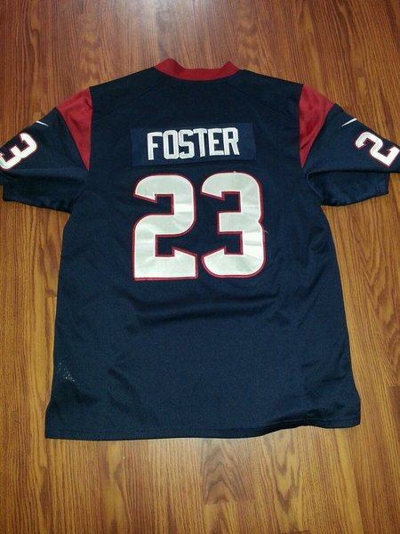 #23 ARIAN FOSTER Houston Texans NFL RB Blue Throwback Jersey