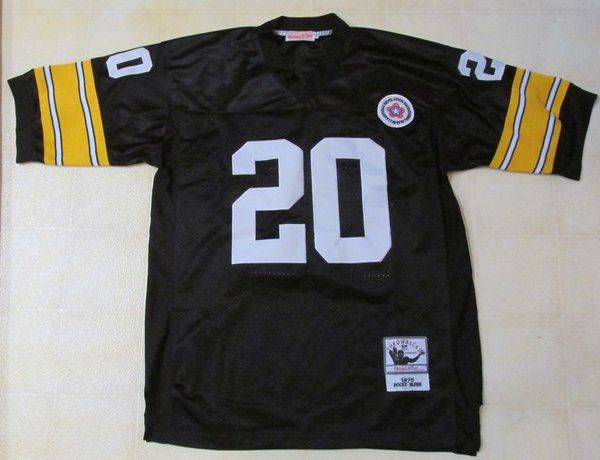 #20 ROCKY BLEIER Pittsburgh Steelers NFL RB Black Throwback Jersey