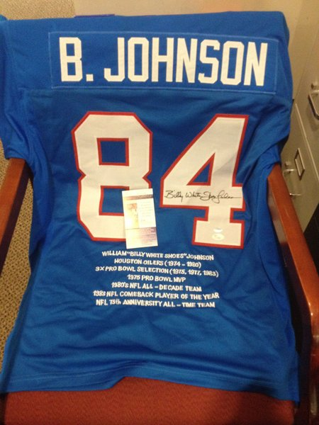 84 billy johnson houston oilers nfl wr rs blue stats