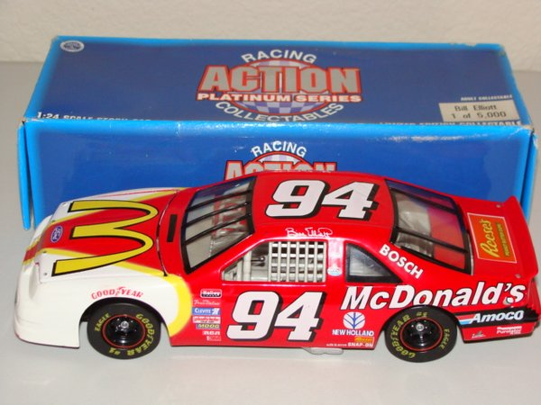 1996 Action 1/24 #94 McDonald's Ford Tbird Bill Elliott CWC