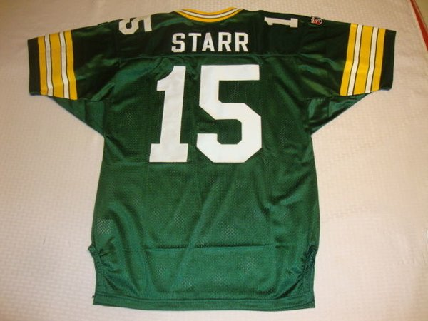 #15 BART STARR Green Bay Packers NFL QB Green Throwback Jersey
