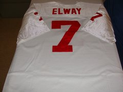 #7 JOHN ELWAY Stanford Cardinal NCAA QB White Throwback Jersey