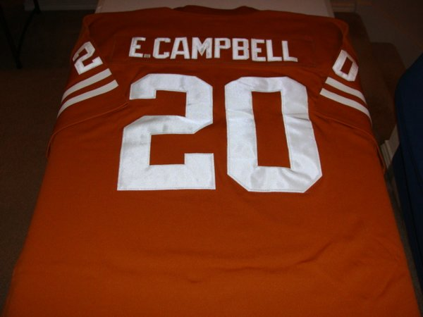 #20 EARL CAMPBELL Texas Longhorns NCAA RB Orange Throwback Jersey
