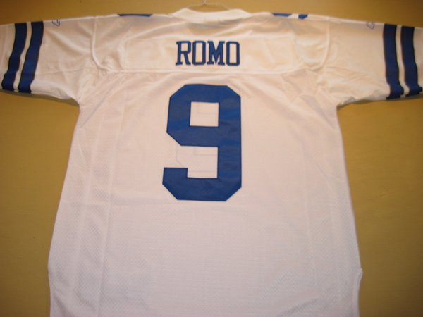 #9 TONY ROMO Dallas Cowboys NFL QB White Throwback Jersey