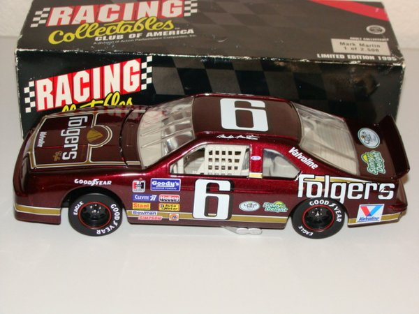1995 RCCA 1/24 #6 Folger's Coffee 1991 Ford Tbird Mark Martin CWC