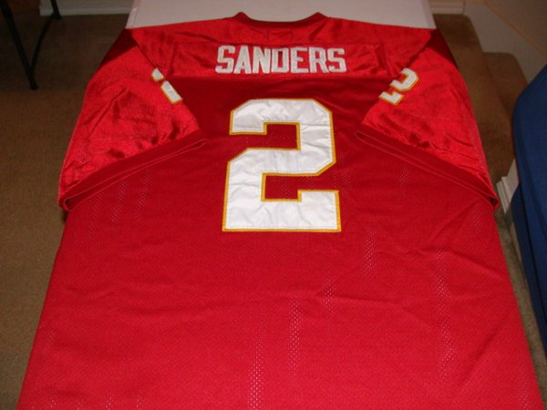 #2 DEION SANDERS Florida State Seminoles NCAA CB/RS Red Throwback Jersey