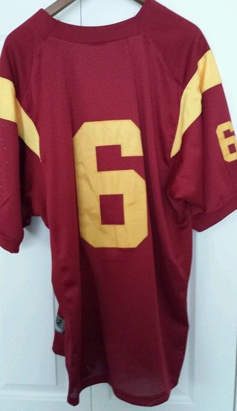 #6 MARK SANCHEZ USC Trojans NCAA QB Red Throwback Jersey