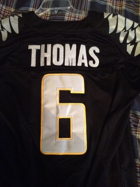 #6 De'ANTHONY THOMAS Oregon Ducks NCAA RB/WR/RS Black Throwback Jersey