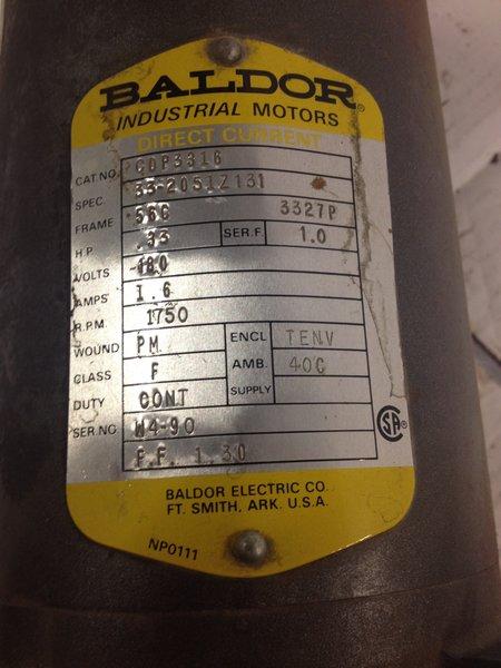 1 3hp 180dc 1800 56c baldor permanent magnet used for Baldor permanent magnet motors