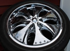 Chrome Spinner Wheels-Multi Fit 5-hole