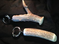 Whitetail Deer Antler Beer Bottle Opener