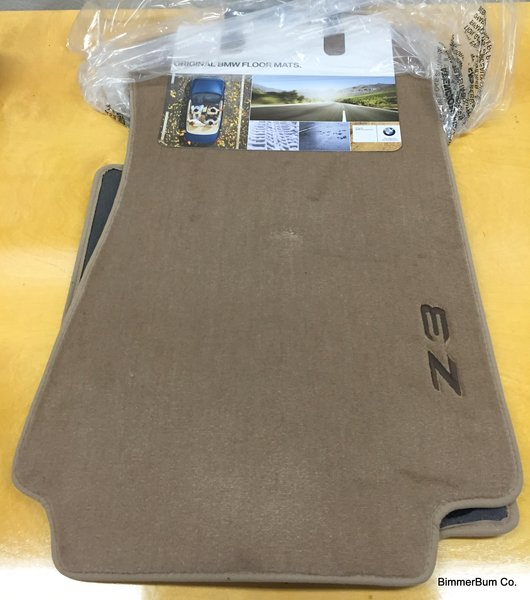 Nla Genuine Bmw Z3 Tan Floor Mat Set 82111470157