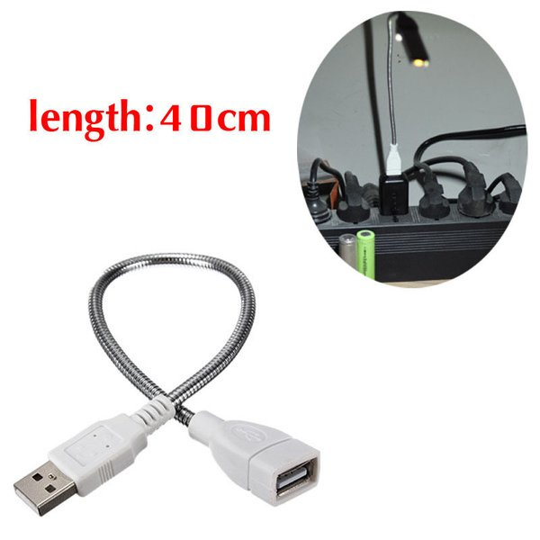 Flexible Power Cable : Usb flexible power supply cable metal extension toolclerk