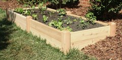 "Distinctive Cedar Raised Bed Garden 4'x8' - 11"" high"