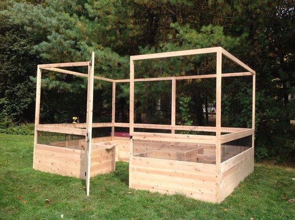 Maine kitchen garden 8 39 x12 39 deer proof raised bed for Kitchen garden fence