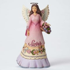 I Love My Sister Like No Other-Sister Angel with Flower Basket Figurine