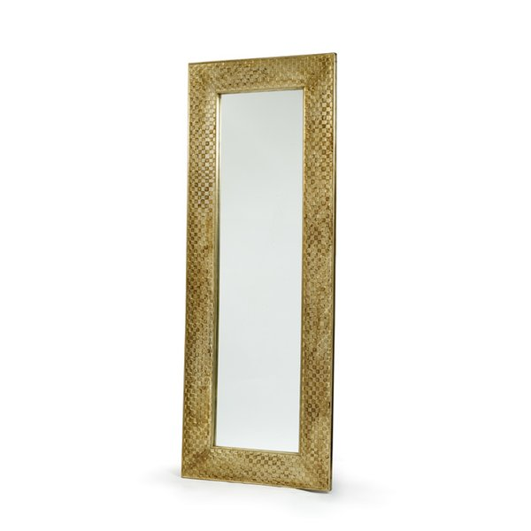 Mirror severed ties antiques consignments for Tall gold mirror