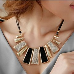 Jewelry Necklace Black & Gold