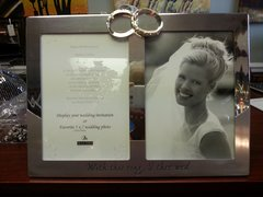 "Wedding Photo Frame ""with this ring I thee wed"""