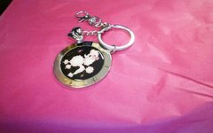 Fluff Pixie Poodle Metal Circle Keychain