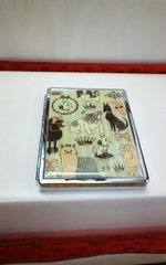 Fluff Metal Business Card Case-Doggie Parlor
