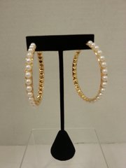 Wedding Earrings Pearl with Gold