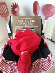 Gift Basket Cook it Apron with Cookbook