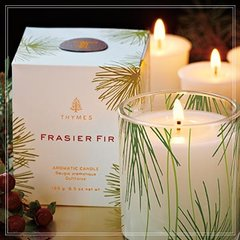 Thymes Frasier Fir Candle 2 oz.