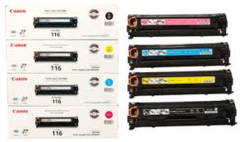 Canon 116 1980B001AA Black, 1979B001AA Cyan, 1977B001AA Yellow, 1978B001AA Magenta CRG316 Genuine Toner Cartridge