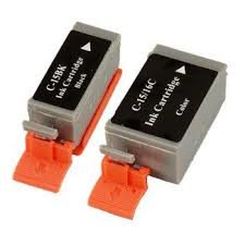 Canon BCI15BK 8190A003 Black BCI15C 8191A003, BCI16C 9818A003 Tri-Color Compatible Inkjet Cartridge
