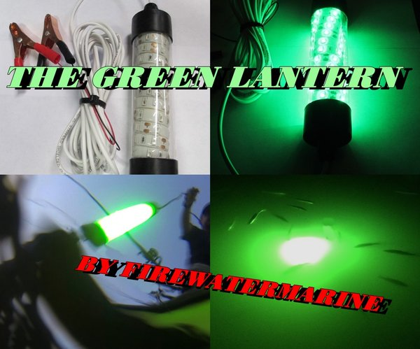 12v led green underwater submersible night fishing light crappie, Reel Combo