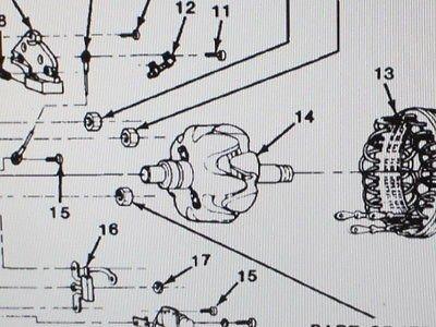 m1008 m1009 alternator rotor 1978875 nos equipment parts. Black Bedroom Furniture Sets. Home Design Ideas