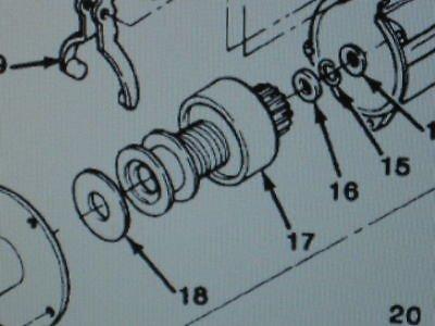 m1008 starter m1008 m1009 engine starter drive 1893445 nos equipment parts s