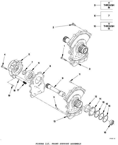 m1078 transmission sleeve 29516486 nos