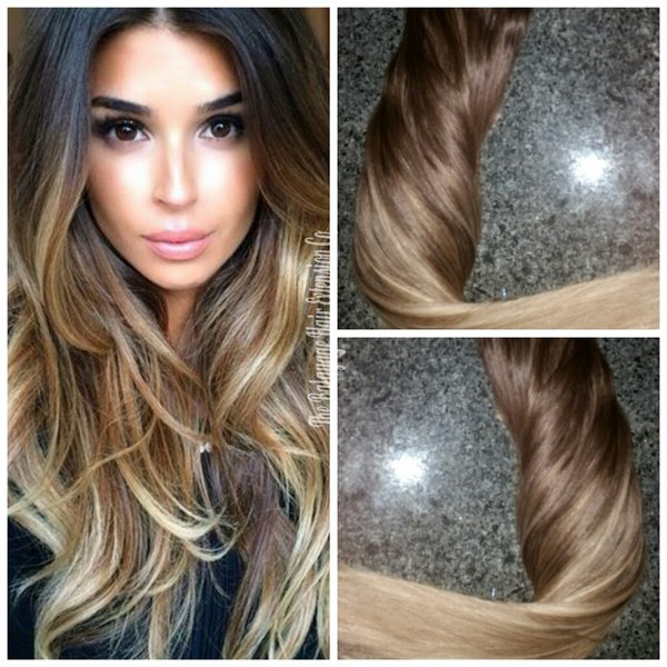 ... Brown Baby Balayage Extensions Clip In Set | Balayage Hair Extensions
