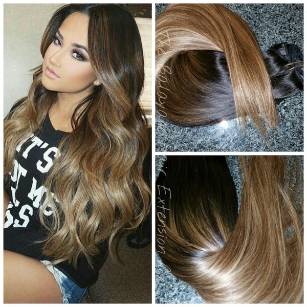 ... Sunkissed Caramel Clip In Extension Set | Balayage Hair Extensions