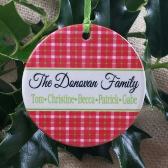 Ornament Plaid Family