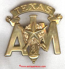 TEXAS A & M CADET CAP BADGE - MEYER
