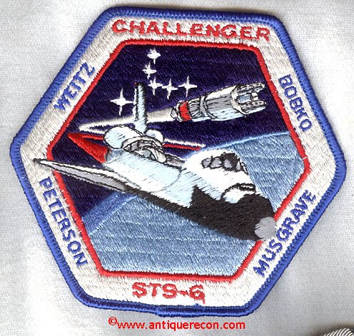 NASA CHALLENGER STS-6 MISSION PATCH | Antique Recon