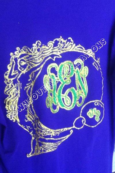 mermaid monogram circle shirt