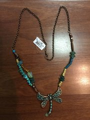 ISLAND NECKLACE by GANZ COPPER AND TURQUOISE DRAGONFLY