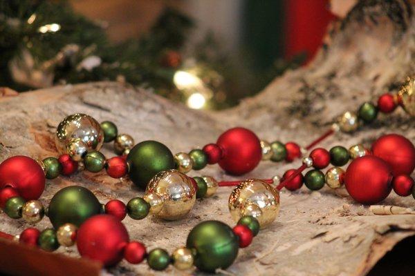 Glass ball christmas garland exclusivelychristmas