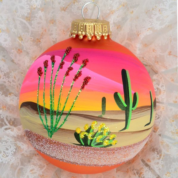 Hand Painted Southwest Christmas Ornaments