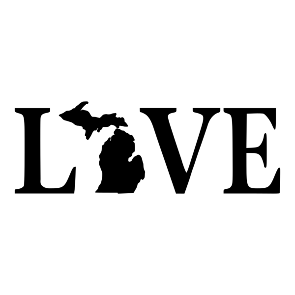 Love Text Michigan Vinyl Car Decal Stickit Vinyls