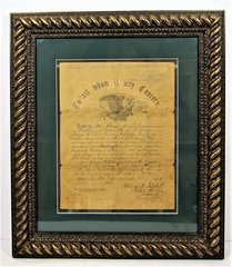 Civil War Discharge Paper of Amos H. Williams, Company C, 3rd Regiment New Jersey