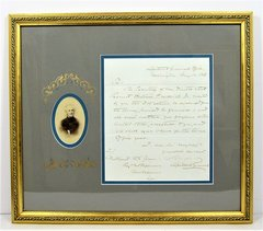 CDV and Hand-written Letter Signed by General Samuel Cooper, Adjutant and Inspector General of the Confederate Army