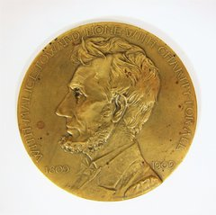 Grand Army of the Republic Bronze Lincoln Medal