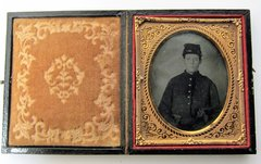Young Soldier with Two Pistols Sixth Plate Tintype